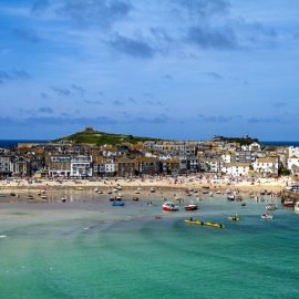 View of St Ives, Cornwall.